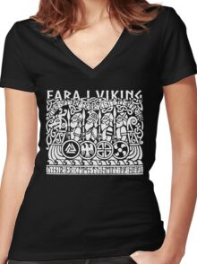 Fara i viking Women's Fitted V-Neck T-Shirt