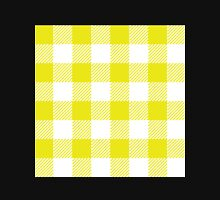 90's Buffalo Check Plaid in Flourescent Citrine and White Unisex T-Shirt
