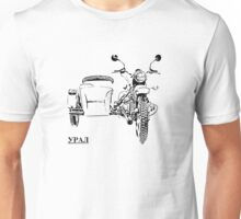 Russian Ural sidecar motorcycle Unisex T-Shirt