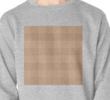 90's Buffalo Check Plaid in Camel and Blush Brown Pullover