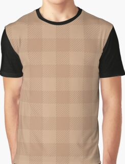 90's Buffalo Check Plaid in Camel and Blush Brown Graphic T-Shirt