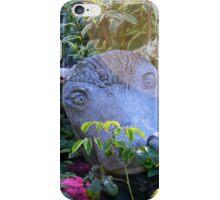 Bull garden ornament. iPhone Case/Skin