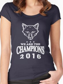 Leicester champions Women's Fitted Scoop T-Shirt