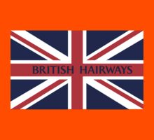 BRITISH HAIRWAYS FUNNY T SHIRT Kids Tee