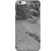 closeup of sand pattern of a beach iPhone Case/Skin
