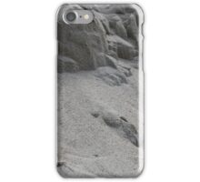 closeup of sand pattern of a beach iPhone Case/Skin