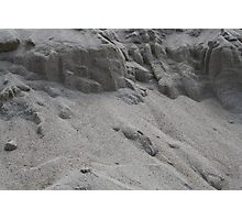 closeup of sand pattern of a beach Photographic Print