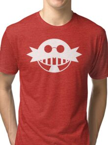 Dr. Eggman White Tri-blend T-Shirt
