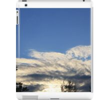 summer evening sky with clouds  iPad Case/Skin