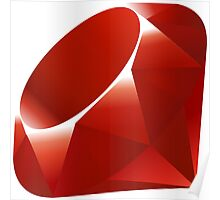 ruby logo Poster