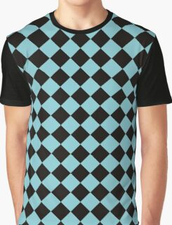 Blue and Black Graphic T-Shirt