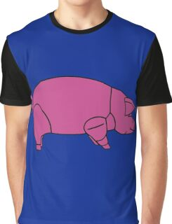 Pink Floyd Animals Pig (traditional colour) Graphic T-Shirt