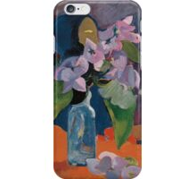 Paul Gauguin - Still Life with Flowers and Idol  1892 iPhone Case/Skin