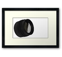lens for the Camera isolated  Framed Print