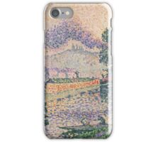 Paul Signac - The Tugboat, Canal in Samois .   Landscape iPhone Case/Skin