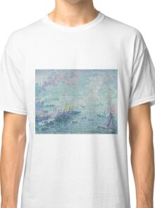 Paul Signac - The Port of Rotterdam . Netherlands.  Seascape  Classic T-Shirt