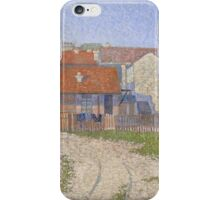 Paul Signac - Gasometers at Clichy 1886 .Landscape iPhone Case/Skin