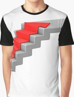 arrow climbing up the old concrete stairs Graphic T-Shirt