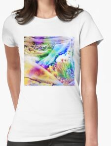 Encaustic Nr 04 - And the World Was Filled With Rainbow Colours Womens Fitted T-Shirt
