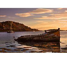 Sunken Gold on Loch Craignish Photographic Print