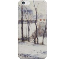 Paul Gauguin - Garden under Snow . Winter iPhone Case/Skin
