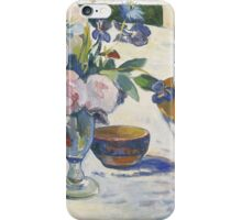 Paul Gauguin - Flowers and a Bowl of Fruit on a Table . Still Life  iPhone Case/Skin