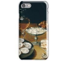 Osias Beert the Elder - Dishes with Oysters, Fruit, and Wine  iPhone Case/Skin