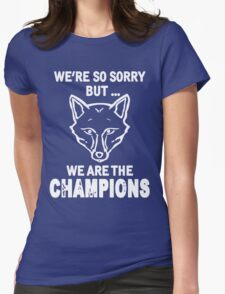 Leicester champions Womens Fitted T-Shirt
