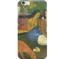 Paul Gauguin - Arearea 1892 Landscape  iPhone Case/Skin