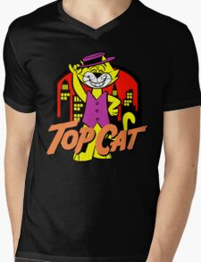Top Cat Mens V-Neck T-Shirt