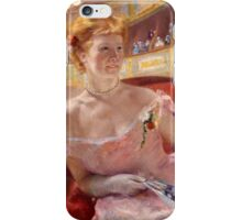 Mary Cassatt - Woman with a Pearl Necklace in a Loge 1879 ,   Fashion , Theatre iPhone Case/Skin