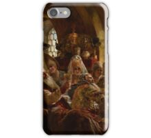 Konstantin Makovsky - A Boyar Wedding Feast 1883 , A Wedding Reception iPhone Case/Skin