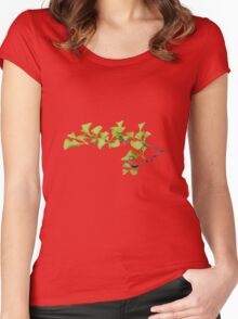 Ginkgo plant Women's Fitted Scoop T-Shirt