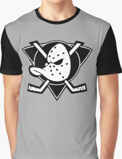 The Mighty Ducks Black Graphic T-Shirt