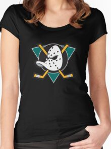 The Mighty Ducks Original Women's Fitted Scoop T-Shirt