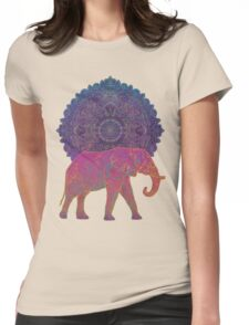 Pink elephant Womens Fitted T-Shirt