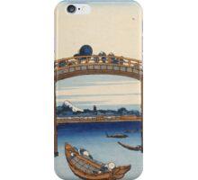 Katsushika Hokusai - Ukiyo-e print of Fukagawa . Japanese Seascape iPhone Case/Skin
