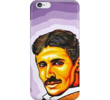 Tesla in Electric Ladyland iPhone Case/Skin