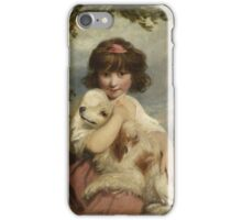 Joshua Reynolds - A Young Girl and Her Dog  1780 .  Best Freind iPhone Case/Skin