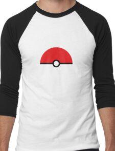 Flat half pokeball Men's Baseball ¾ T-Shirt