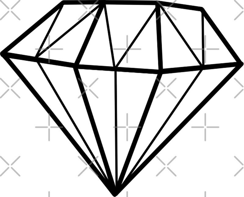 Simple diamond line drawing