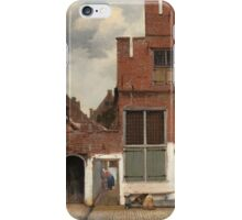 Johannes Vermeer - The Little Street Around 1658 iPhone Case/Skin