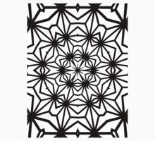 Asanoha Warped Tiled Version 2 Baby Tee