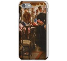 James Tissot - La demoiselle de magasin . Woman ,  Fashion  iPhone Case/Skin