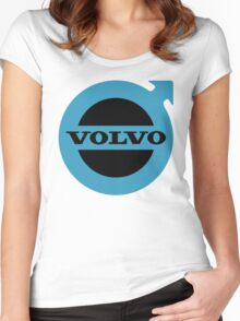 logo volvo Women's Fitted Scoop T-Shirt