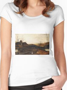 Jacob Grimmer - The Autumn  .Landscape  Women's Fitted Scoop T-Shirt