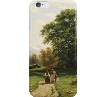Ivan Shishkin - Swiss landscape 1866 iPhone Case/Skin
