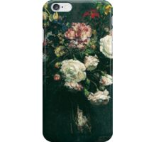 Henri Fantin-Latour - Vase of Flowers . Flowers , Bouquet of Flowers iPhone Case/Skin