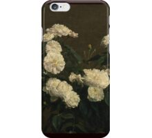 Henri Fantin-Latour - Still Life of White Roses 1870 iPhone Case/Skin