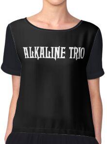Alkaline Trio Black Chiffon Top